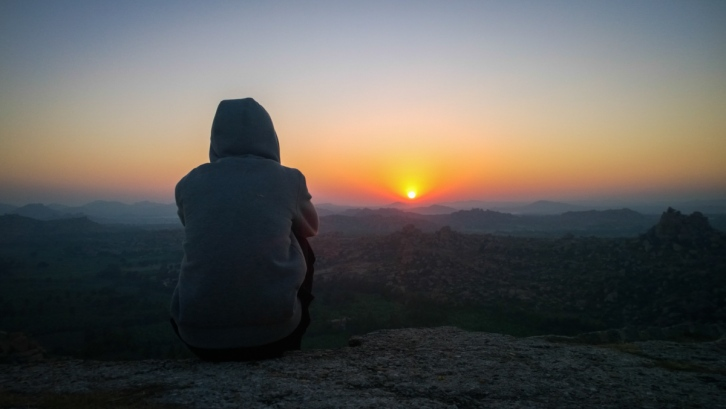 Sunrise from matunga peak , Hampi