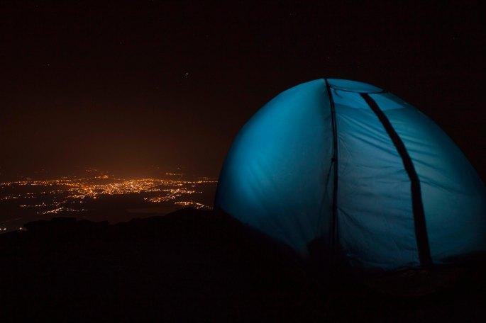 camping at mullyangiri