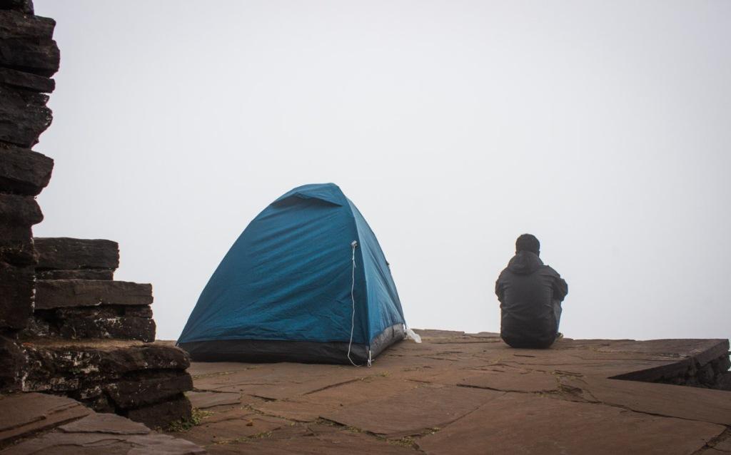 Camping at Mullyangiri (Highest peak of karnataka)