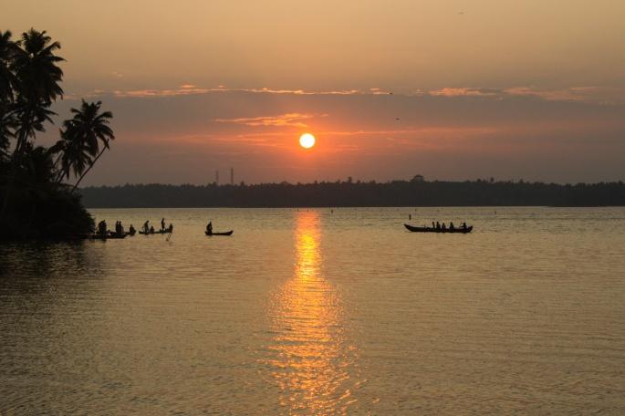 Sunrise at Wayyanad beach , kerala