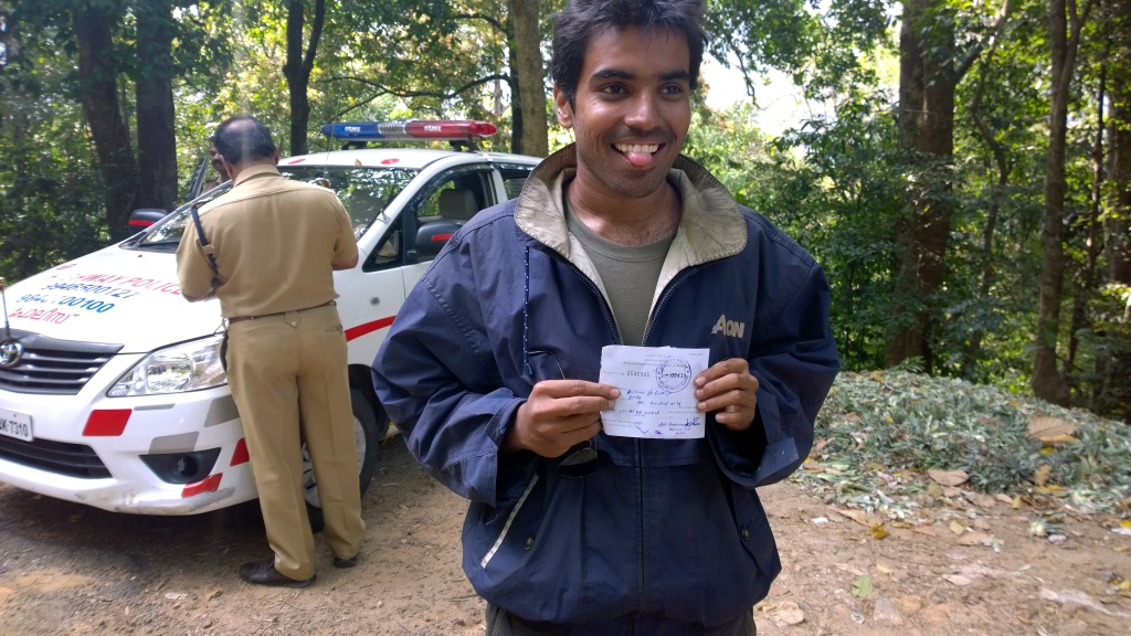 Congrats bhishma for first fine