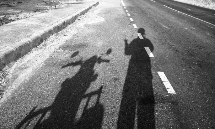 Selfie on the road