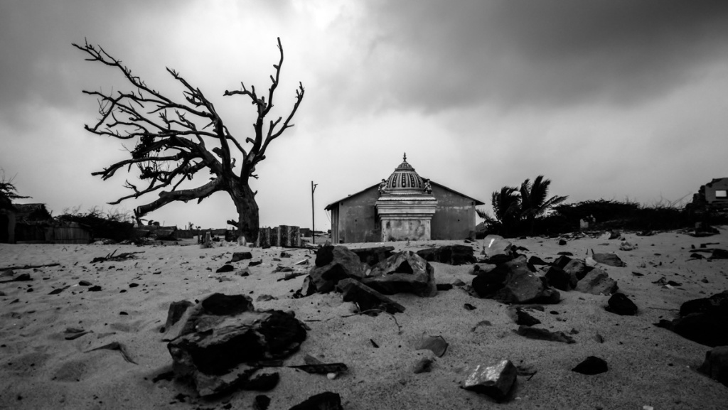 Ruin site at Dhanushkodi beach
