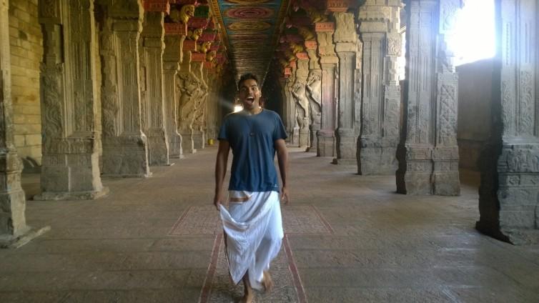 At Meenakshi Temple, Madurai