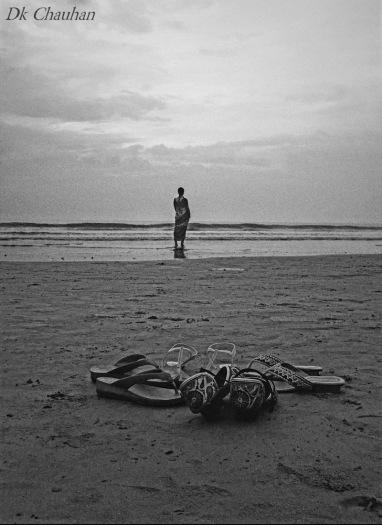 alone at Juhu beach Mumbai india