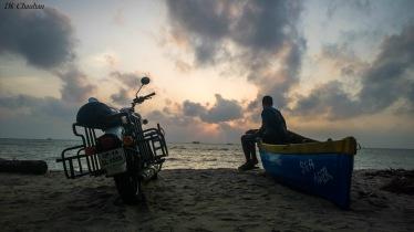 sunrise on rameshwaram beach