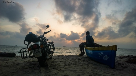 sunrise on rameshwaram beach
