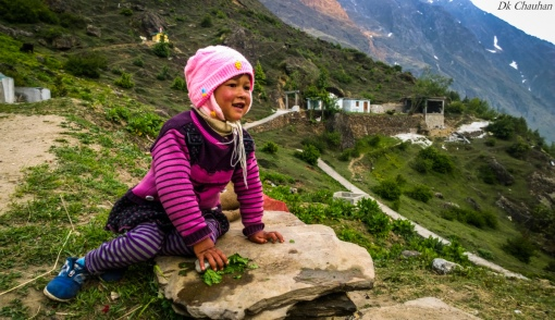 Cute girl from Mana village of uttrakhand