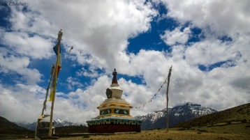 Dankar lake stupa during spiti valley roadtrip