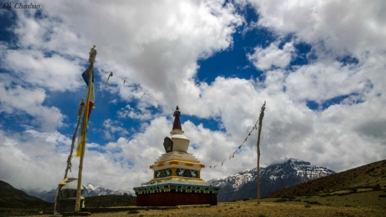Dankar lake stupa during spiti valley roadtrip
