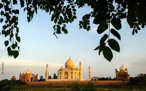 Sunset view of Taj Mahal agra