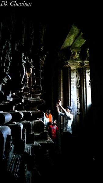 Inside of khajuraho temple MP