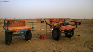Camping in sand dunes of jaiselmer