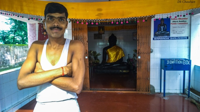 black buddha nalanda university