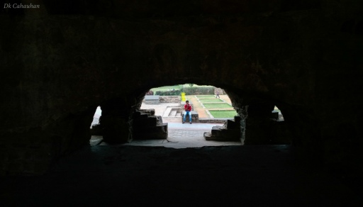 View inside Golkonda fort hyderabad