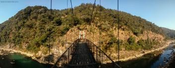 bridge crossing david scott trail meghalaya