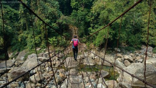 hanging bridge sohra meghalaya