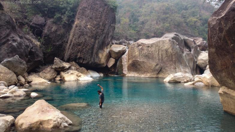 trek to rainbow waterfall sohra meghalaya