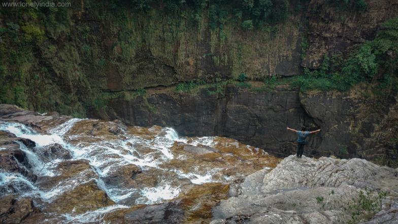 Waterfall on trek near mawlynnong