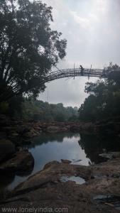 Bamboo suspension bridge meghalaya