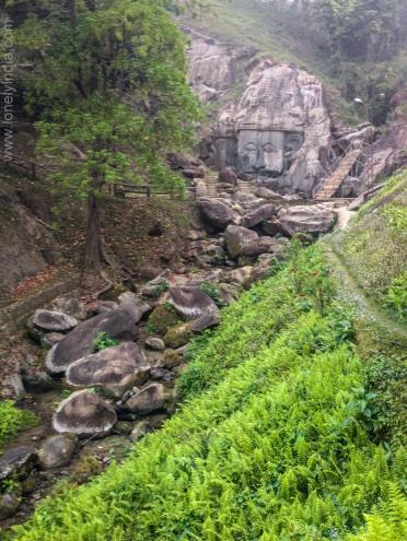 Unakoti rock cut structure tripura