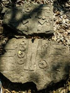broken monolith at vangchia mizoram