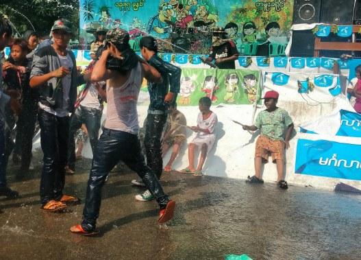 water festival , tamu , burma