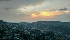 sunset at kohima nagaland