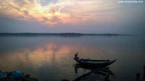 Sunset near jharia, jharkhand