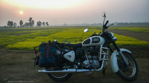 sunset on way to darjeeling west bengal