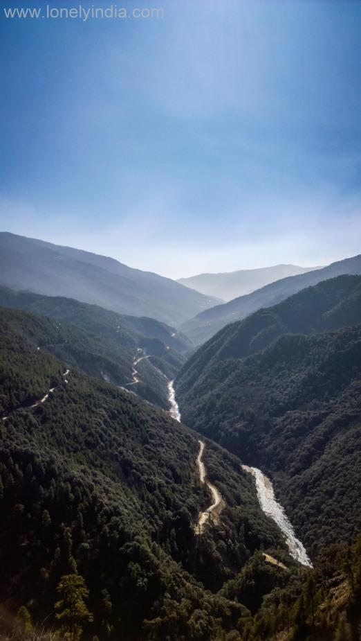View from bhutan highways