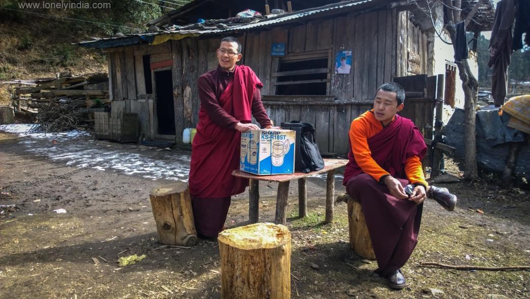 Lamas of Cherry monastery Bhutan