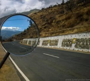 on our way to Paro Bhutan