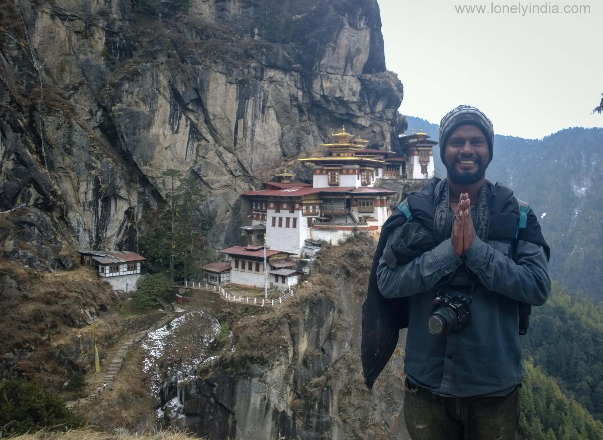 lonely india at tiger nest bhutan