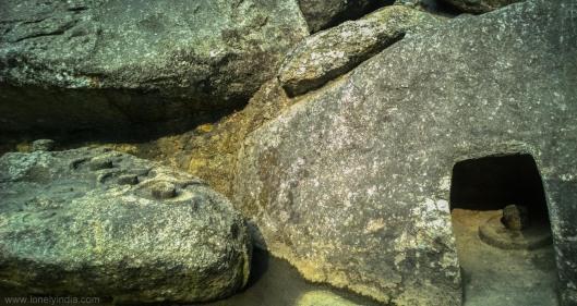 shivling on rock at sri sujoy pahad assam