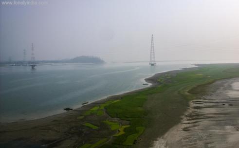 river farming on banks of brahamputra