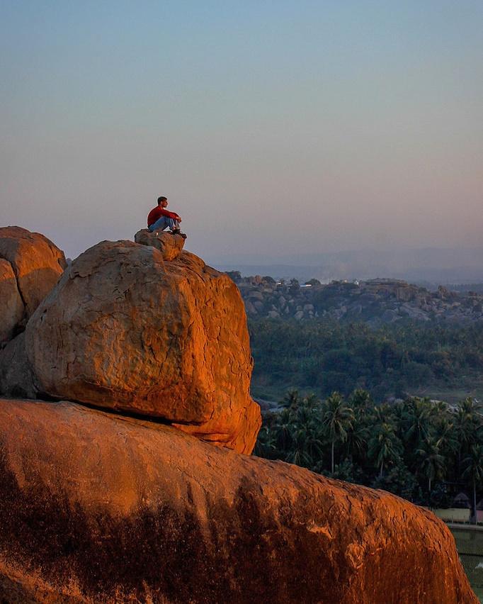 Short travel story from sunset point in Hampi, Karnataka