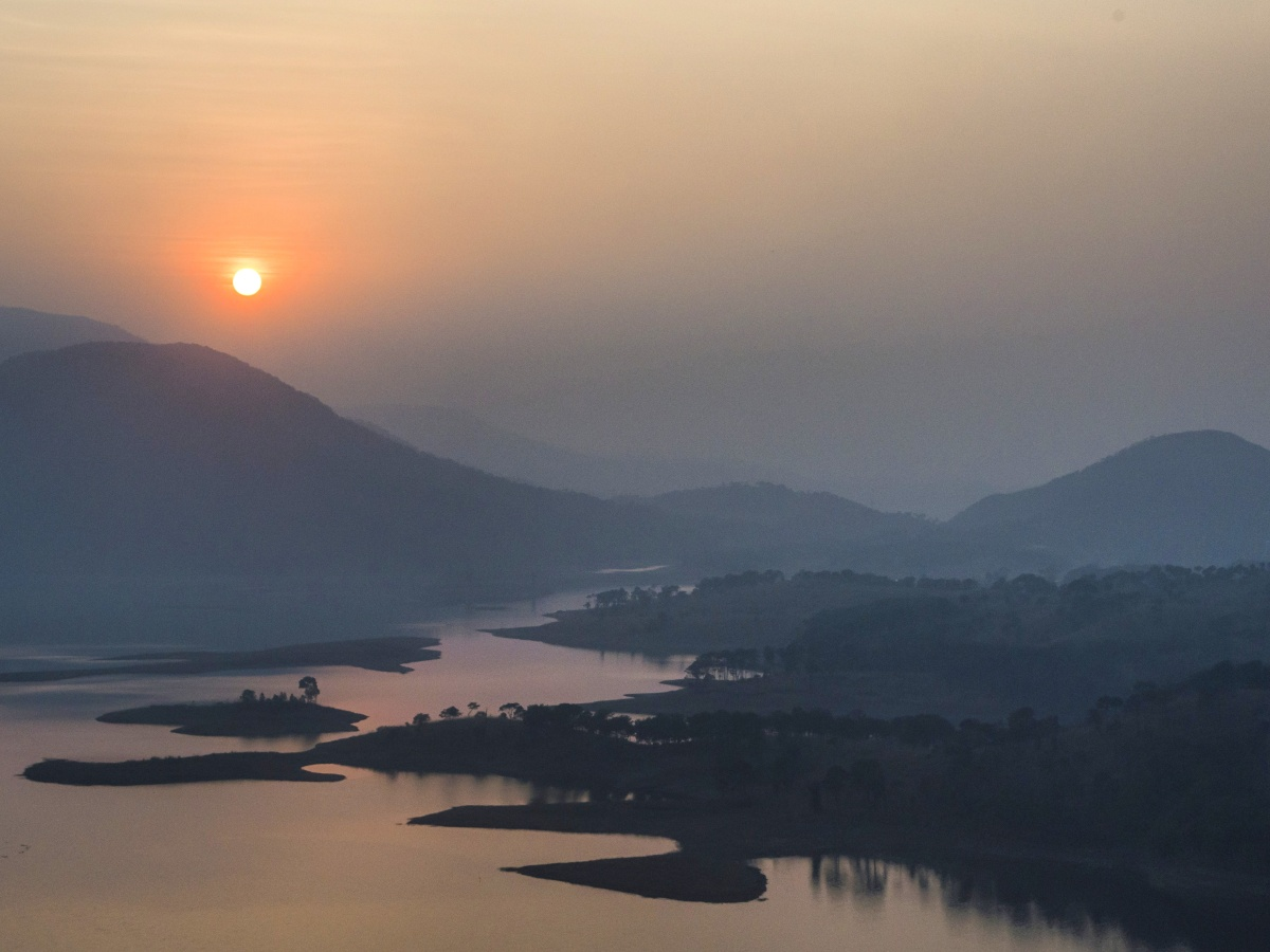 Folk tale from Sunset in Umiam Lake , shillong , Meghalaya