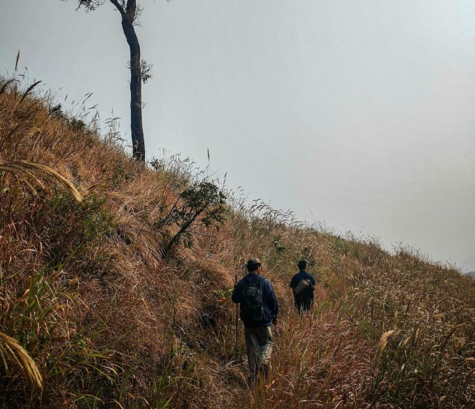 Trekking to Borail, the 2nd highest peak of assam, in halflong