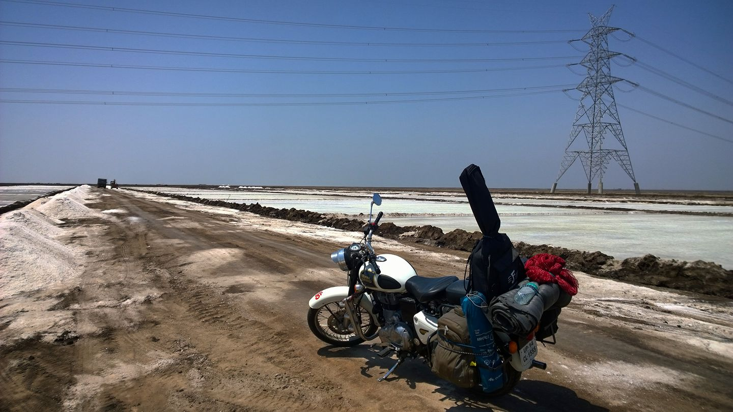 Motorcycle trip to rann of kutch gujarat