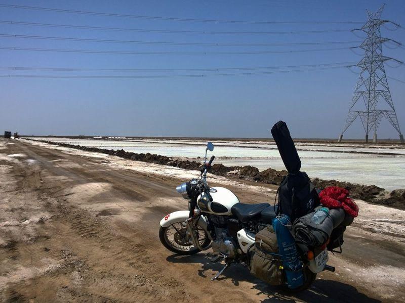 Motorcycle trip to rann of kutch gujarat