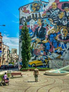 Graffiti on Building in warsaw poland