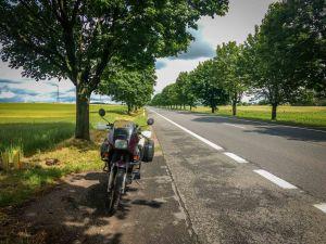 Countryside roads in Poland on A honda transalp