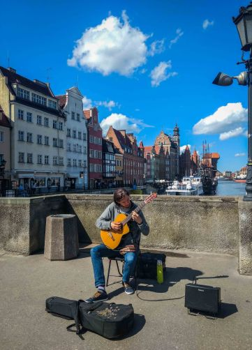 Music on street of Gdansk, Poland