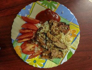 Turkey and rice by couchsurfing host in Kanas Lithuania