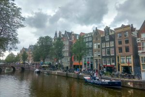 River side of Amsterdam. One of the house among these building was a secret church in old times