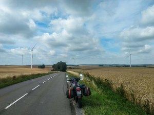 On way to Bordeaux, france with Honda transalp