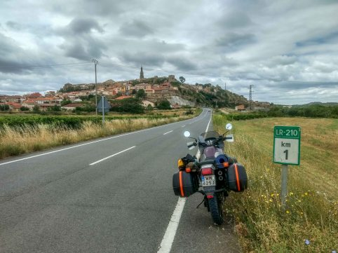 Countryside roads in spain through small viallges on a Honda Transalp