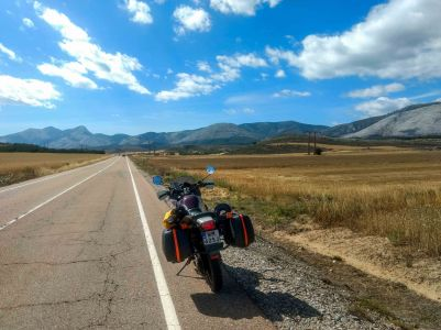 Traveling in spain On a honda transalp motorcycle