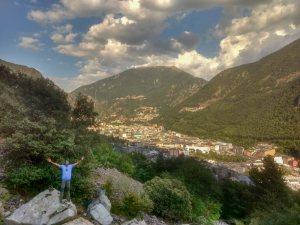 Trekking in Andorra Europe during Backpacking trip